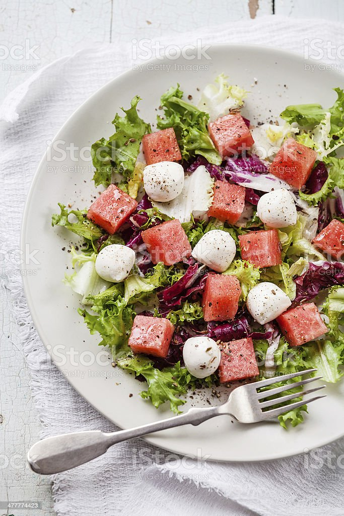 Watermelon Salad royalty-free stock photo