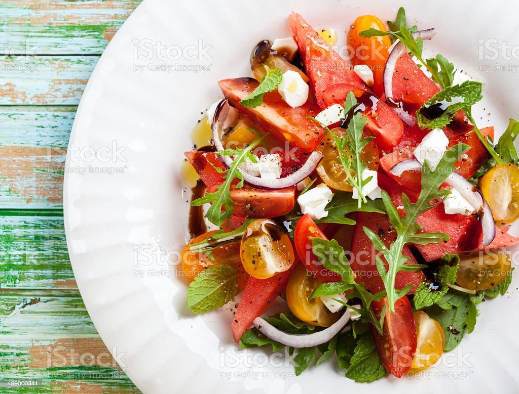 Watermelon Salad stock photo