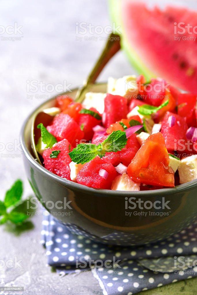 Watermelon salad. stock photo