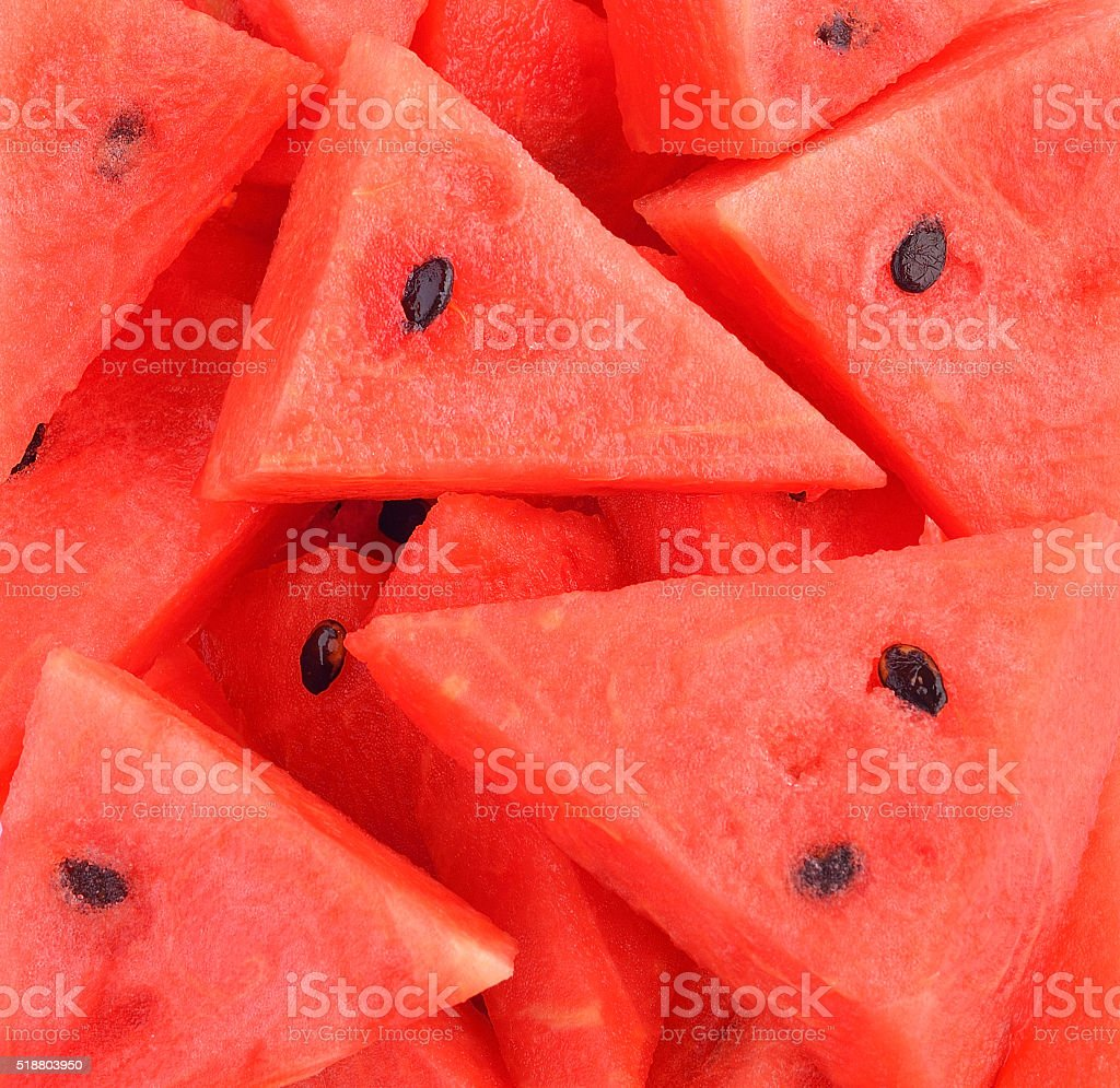 watermelon sliced background stock photo
