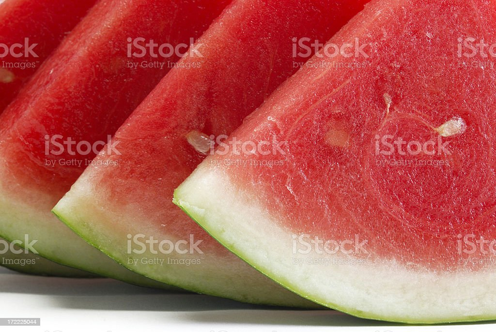 Watermelon slices close up royalty-free stock photo