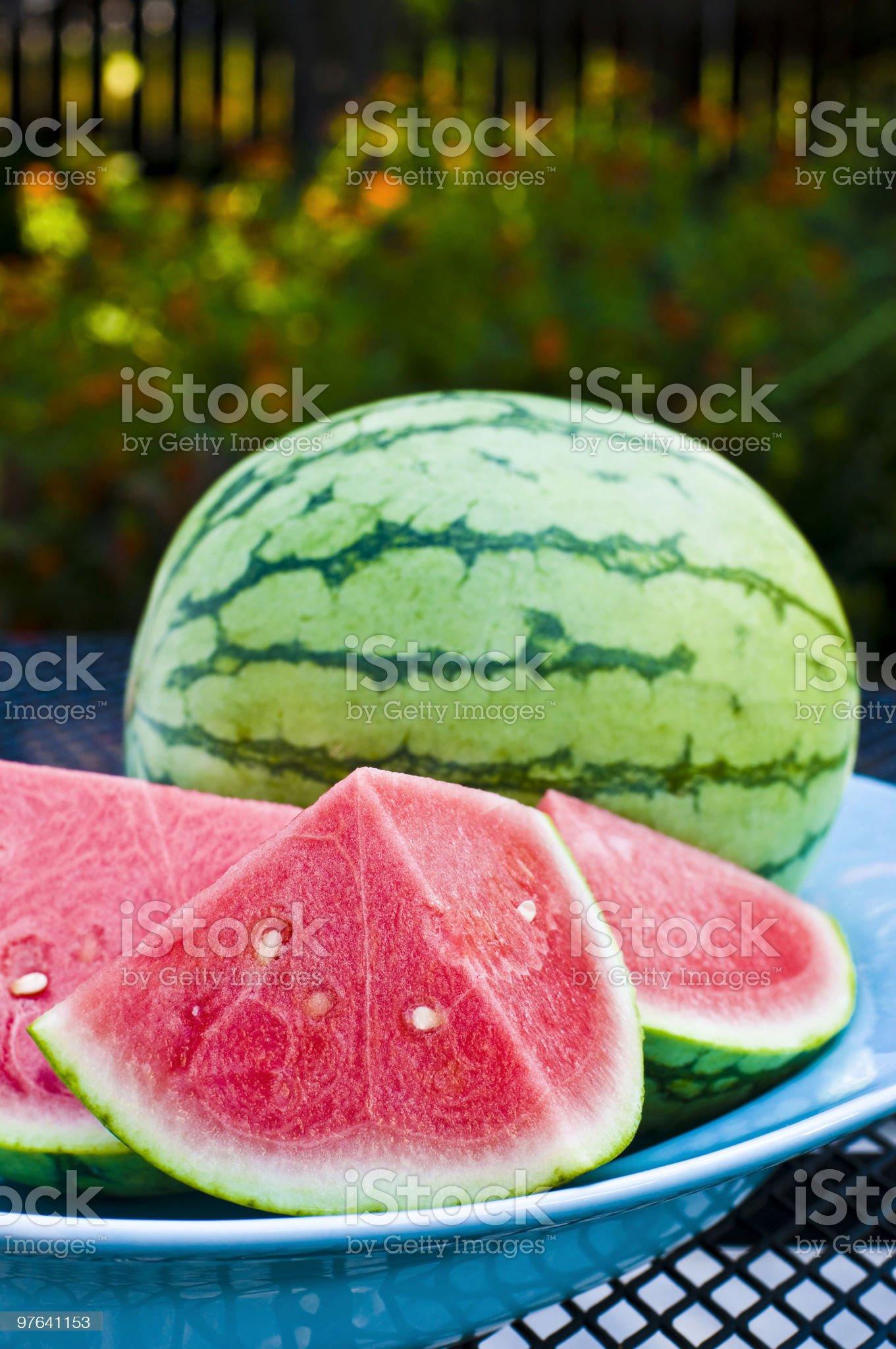 Watermelon slices royalty-free stock photo
