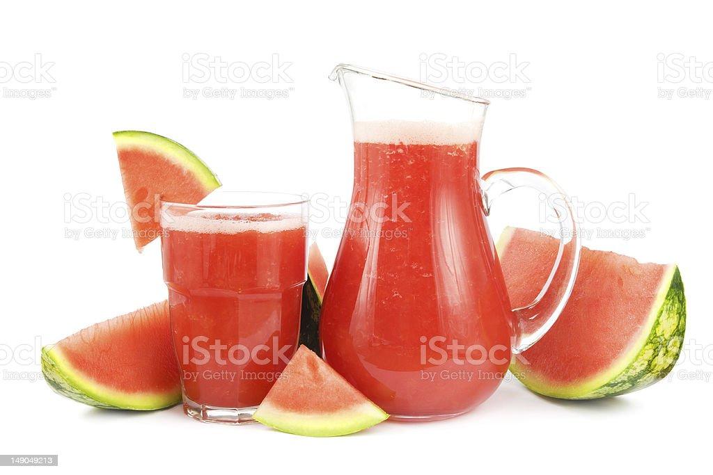 Watermelon smoothie royalty-free stock photo