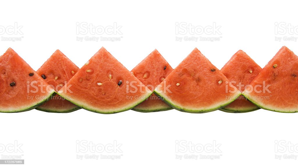 Watermelon Wedges Border royalty-free stock photo