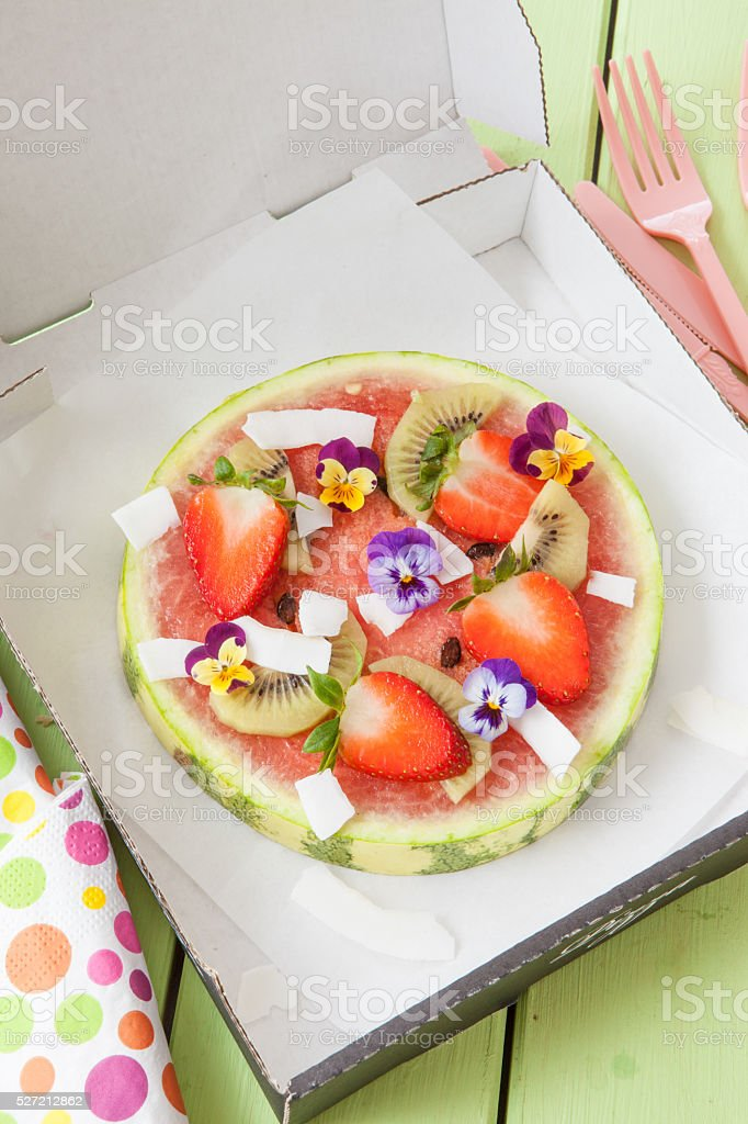Watermelon with fresh fruits stock photo