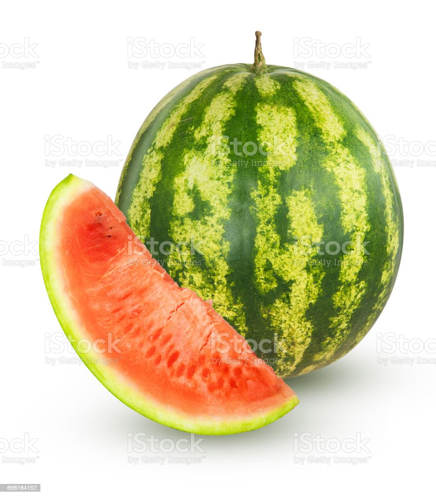 Watermelon with slice stock photo