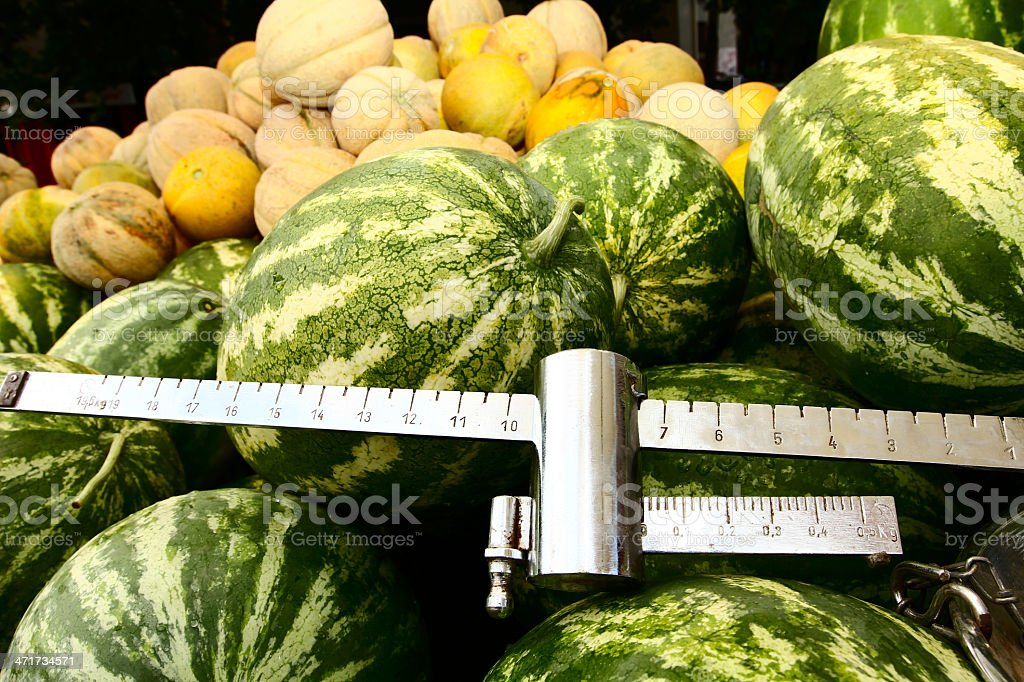 Watermelons on sale royalty-free stock photo