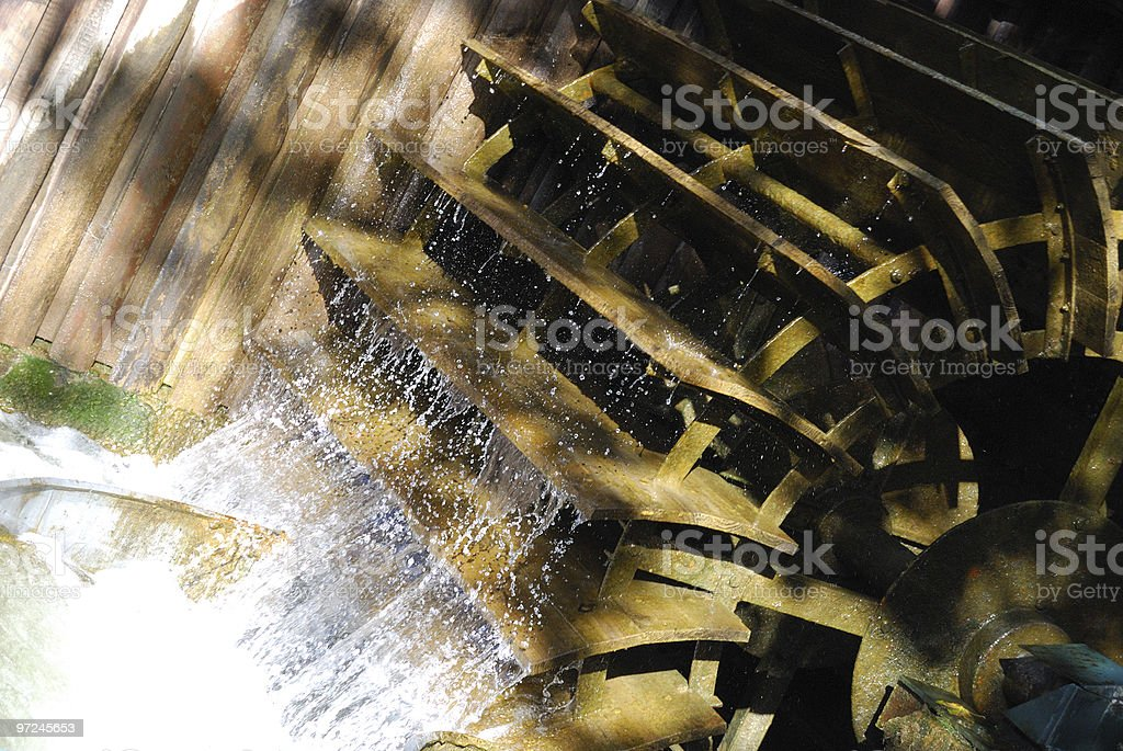 Watermill close-up view stock photo