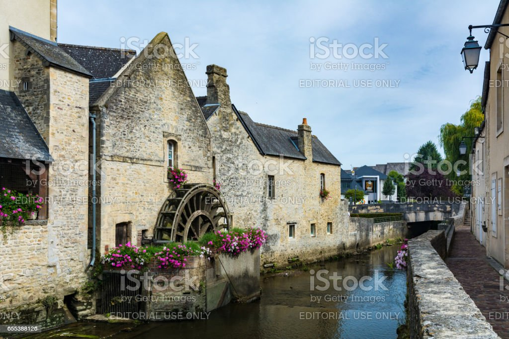 Watermill in Bayeux stock photo