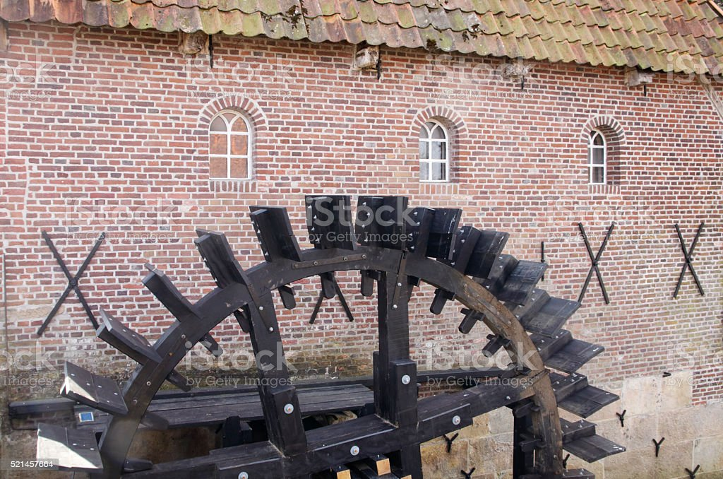 Watermill (detail) stock photo