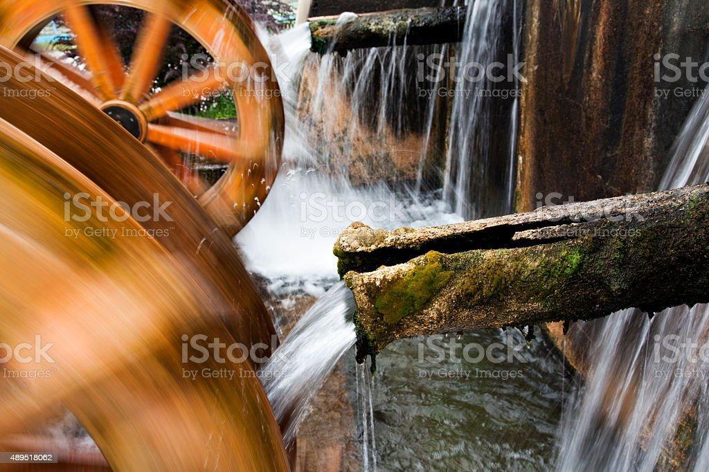 Watermill Turbine Grinding stock photo
