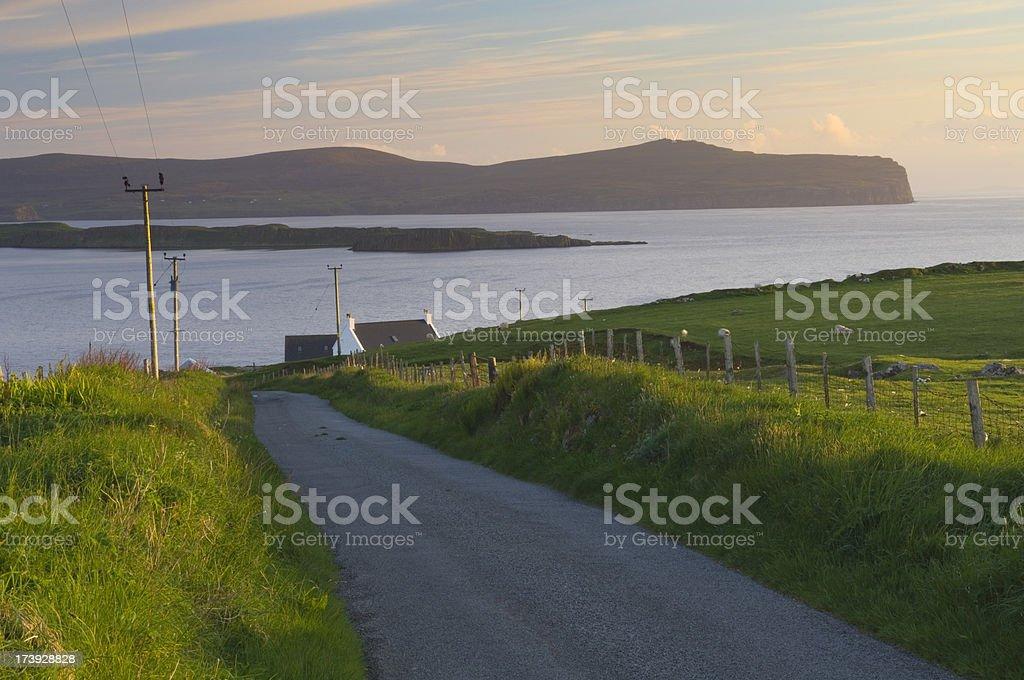Waternish at sunset, Isle of Skye stock photo