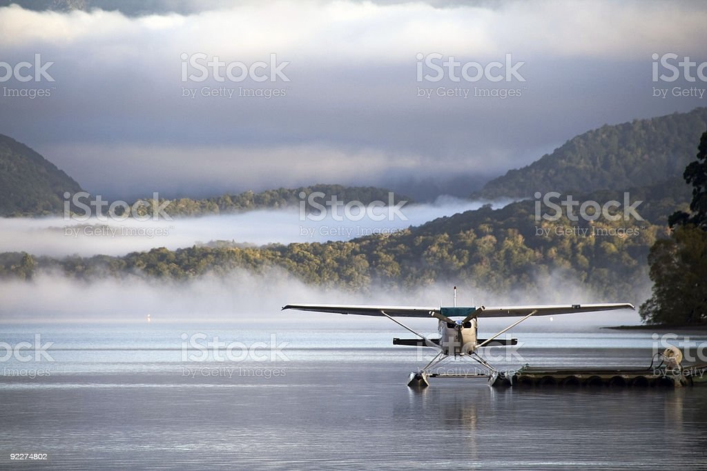 Waterplane ready to go stock photo