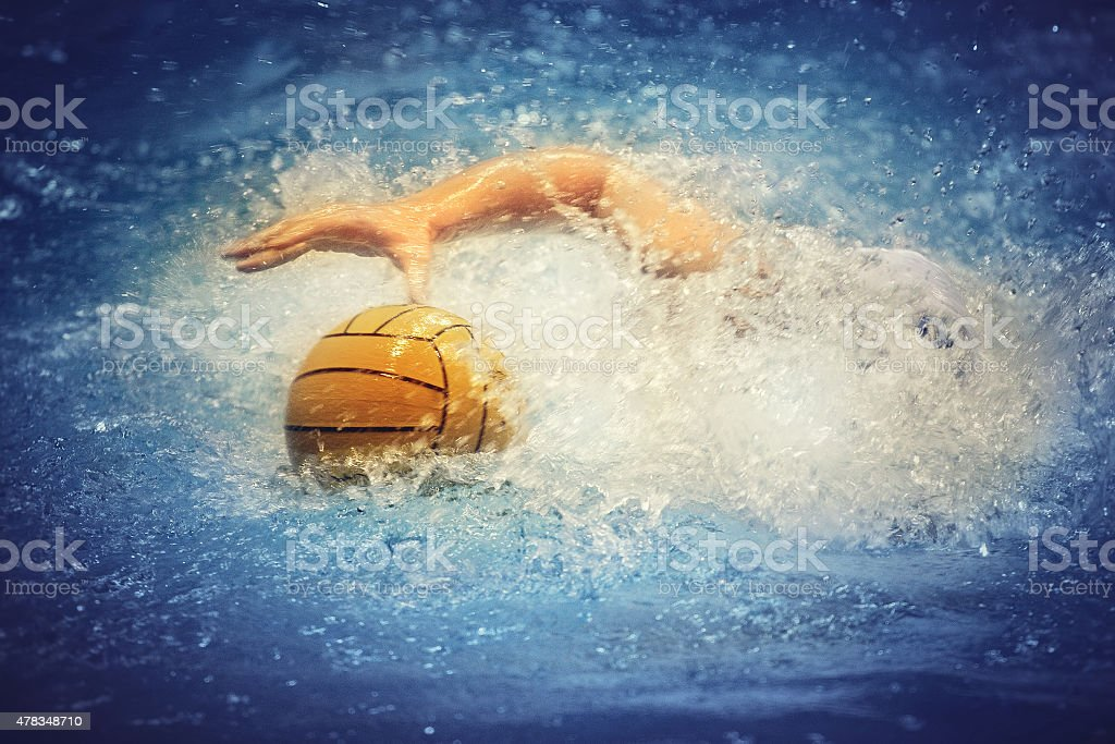 Waterpolo action stock photo