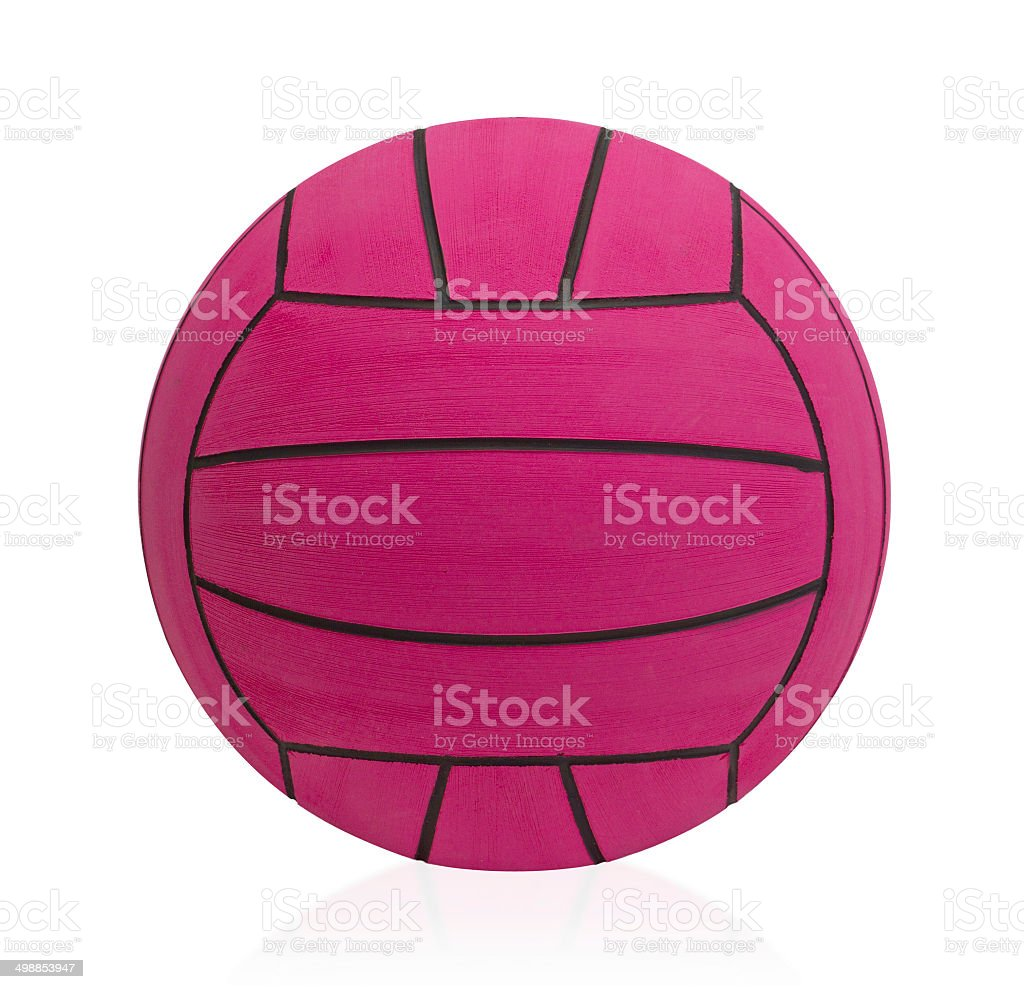 Waterpolo ball the water sporting goods isolated stock photo