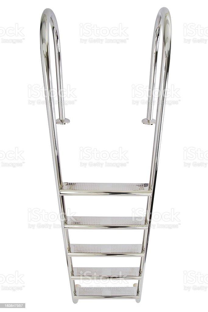waterpool ladder stock photo