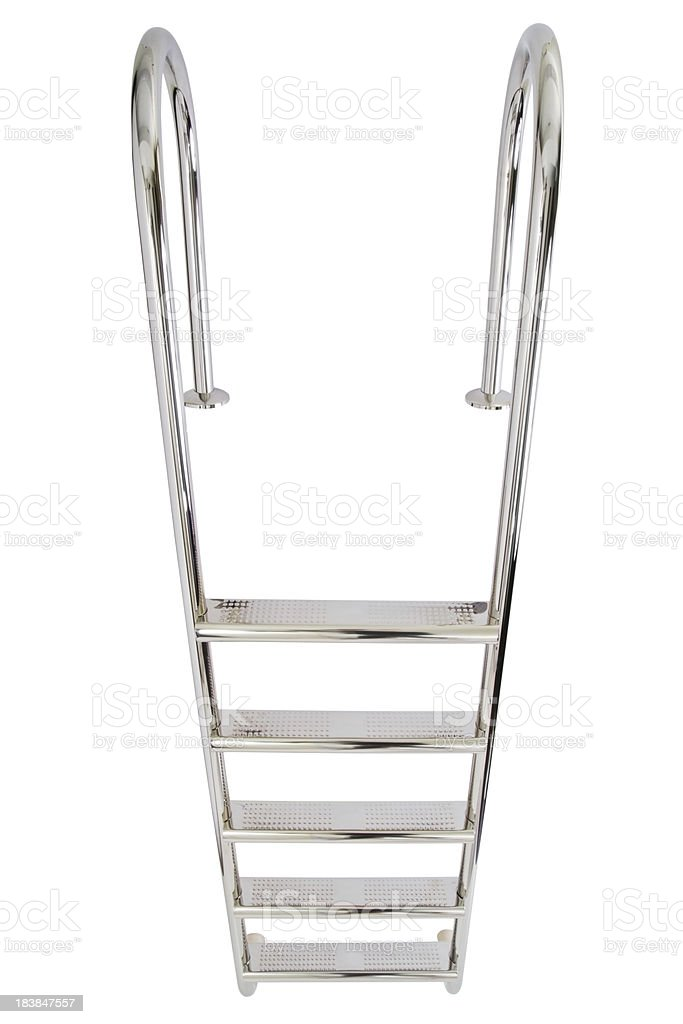 waterpool ladder stock photo