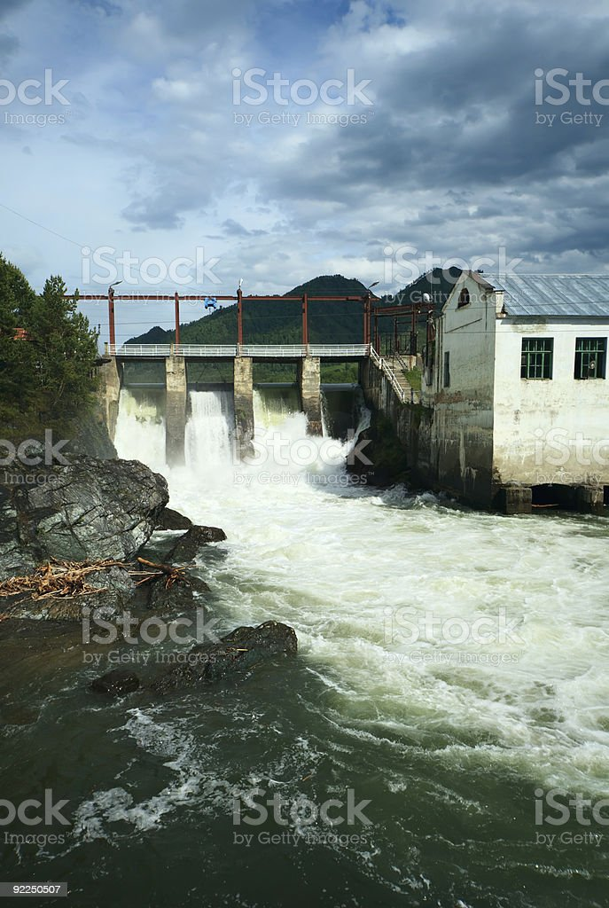 Water-power plant royalty-free stock photo
