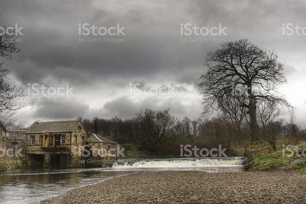 Water-powered Sawmill royalty-free stock photo