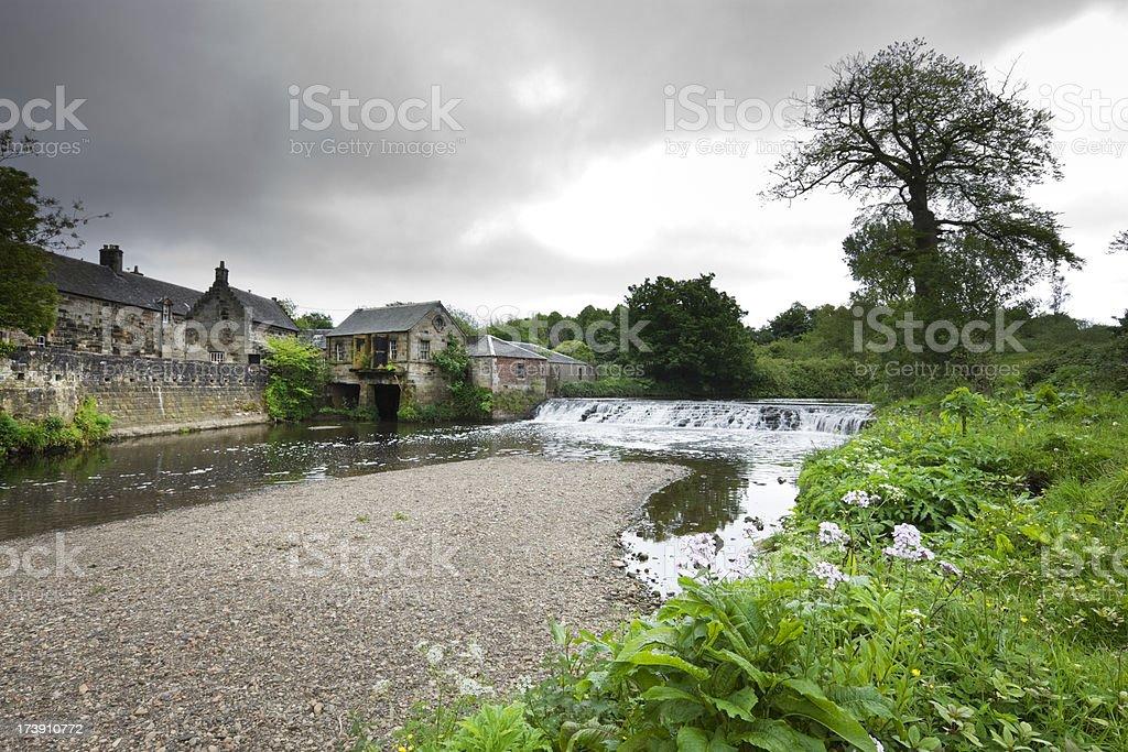 Water-powered Sawmill stock photo