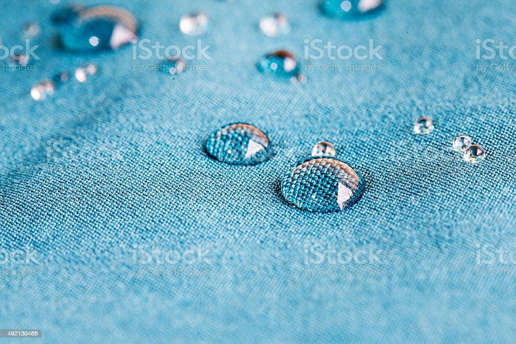 Waterprof fabric stock photo