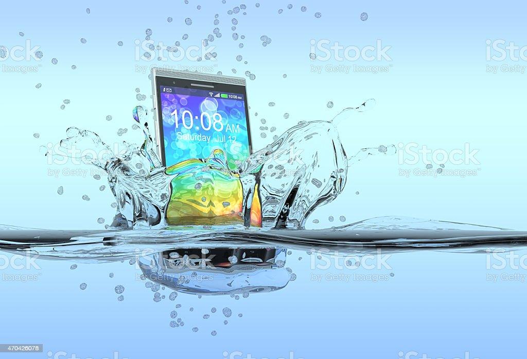 waterproof smartphone stock photo