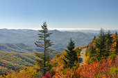 Waterrock Knob on Blue Ridge Parkway in Autumn