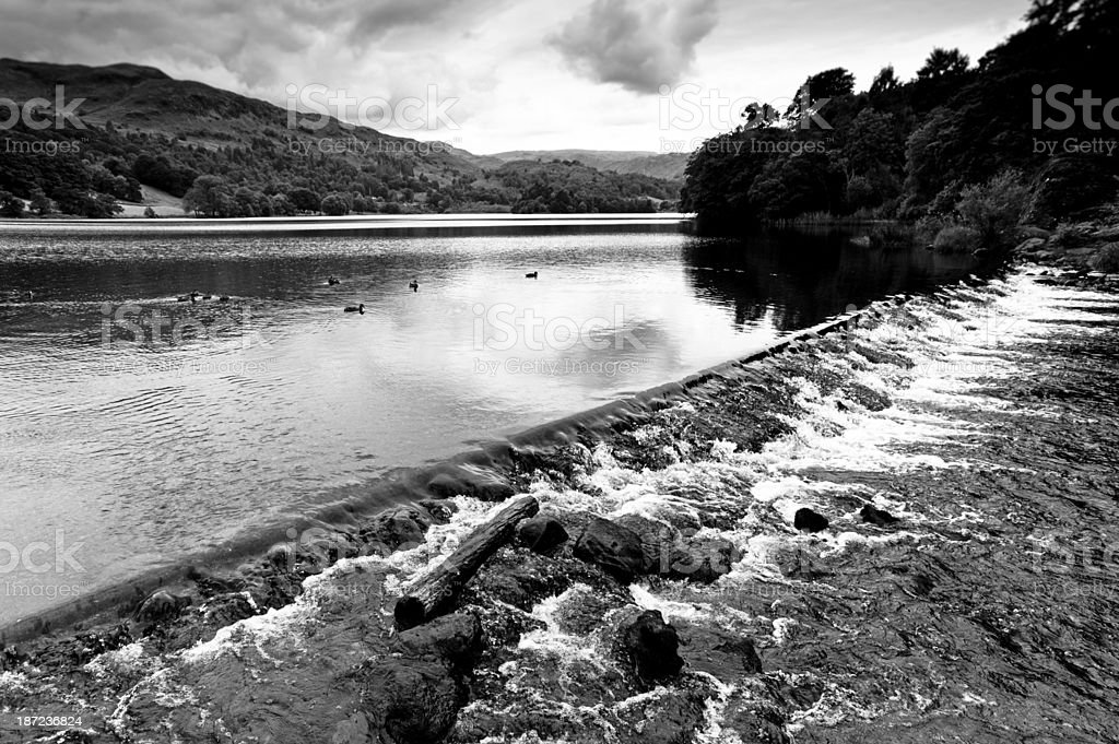 Waters edge Grasmere lake royalty-free stock photo