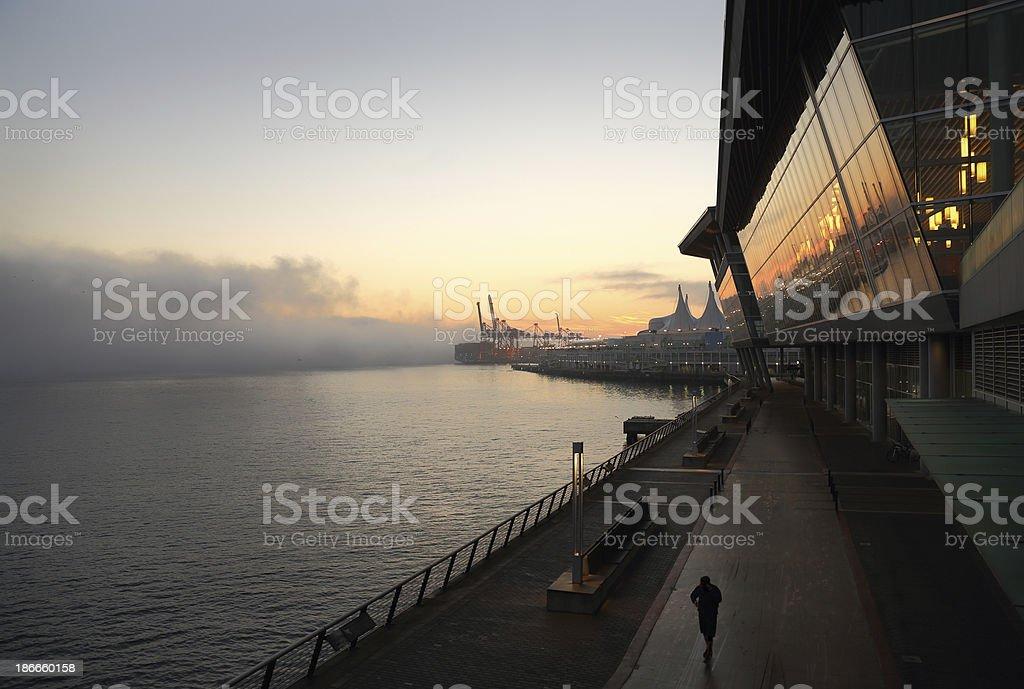 Water's Edge, Vancouver stock photo