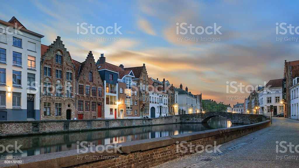 waters of Spiegelrei, Bruges stock photo