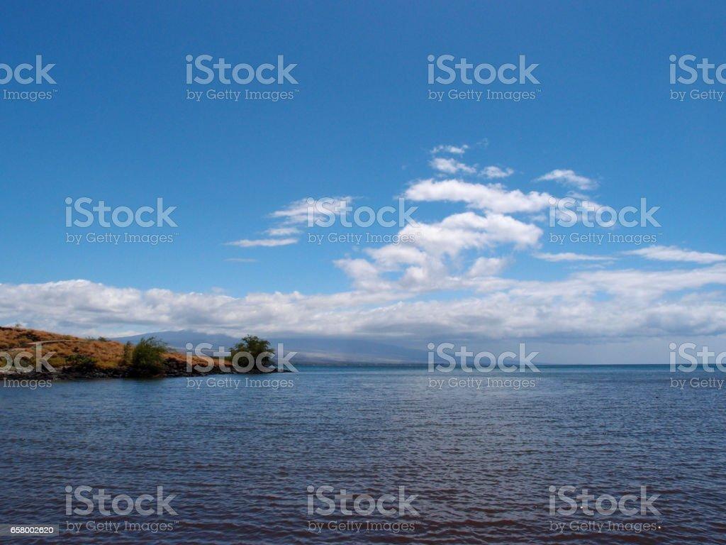 Waters shoreline of the Kohala Coast on the Big Island stock photo