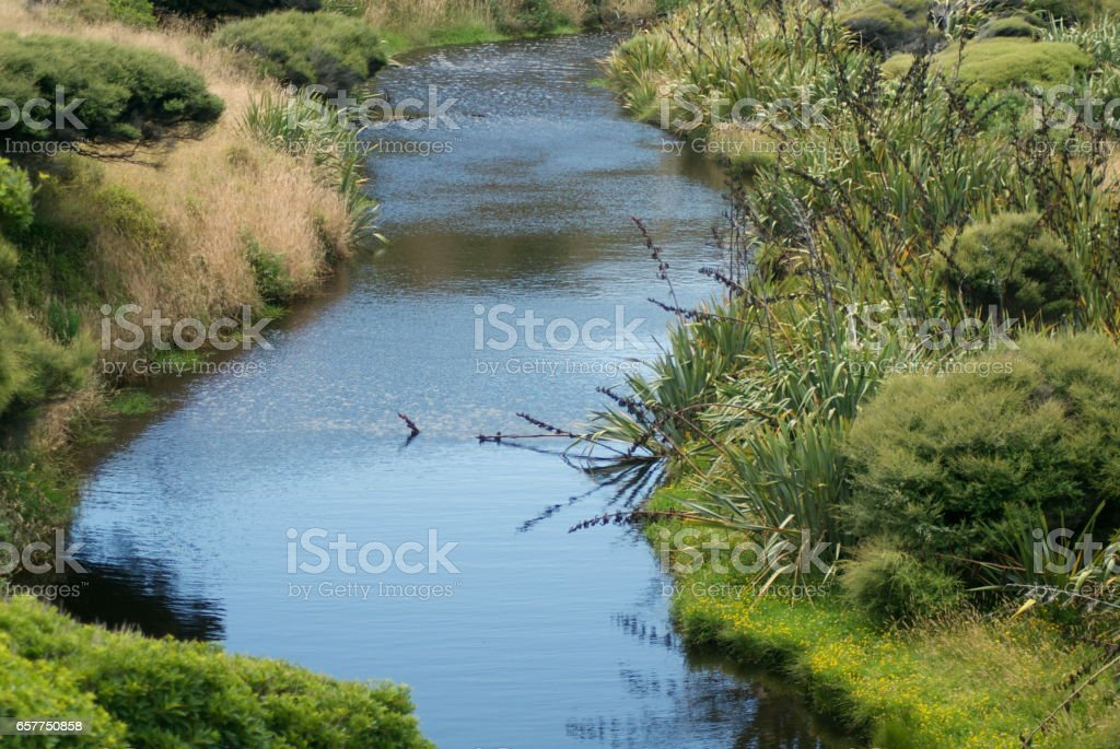 Waterscape, New Zealand stock photo