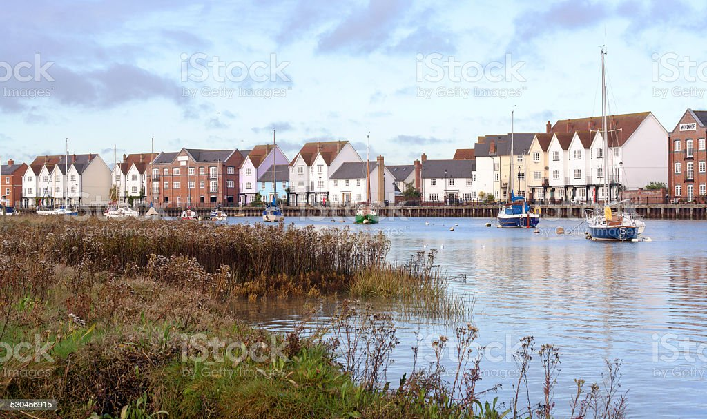 Waterside Apartments stock photo