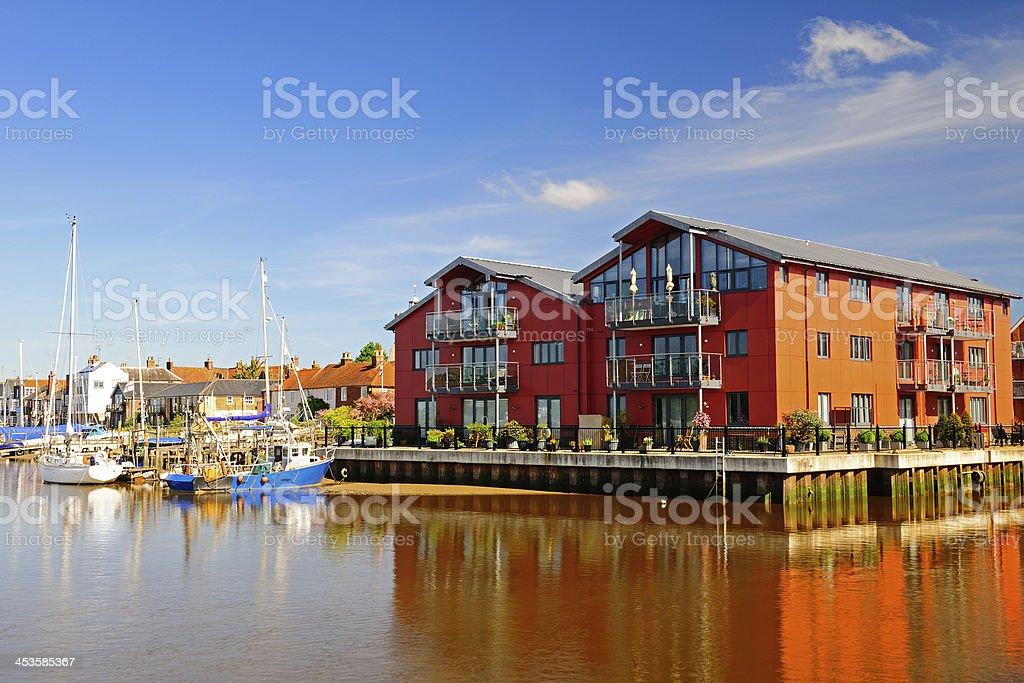 Waterside Flats,UK stock photo