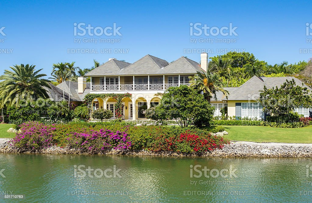 Waterside Home in Naples, Florida stock photo