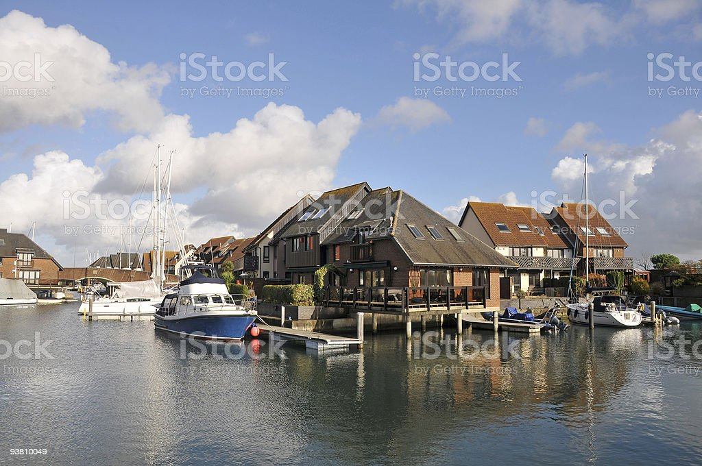 Waterside houses royalty-free stock photo