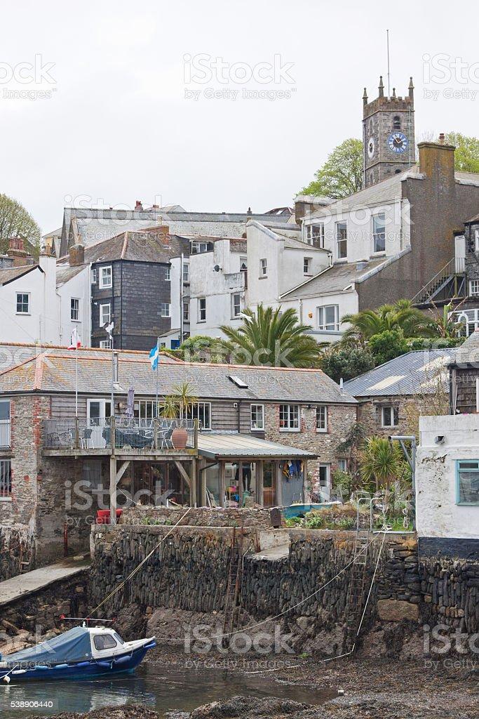 Waterside living at Falmouth UK stock photo