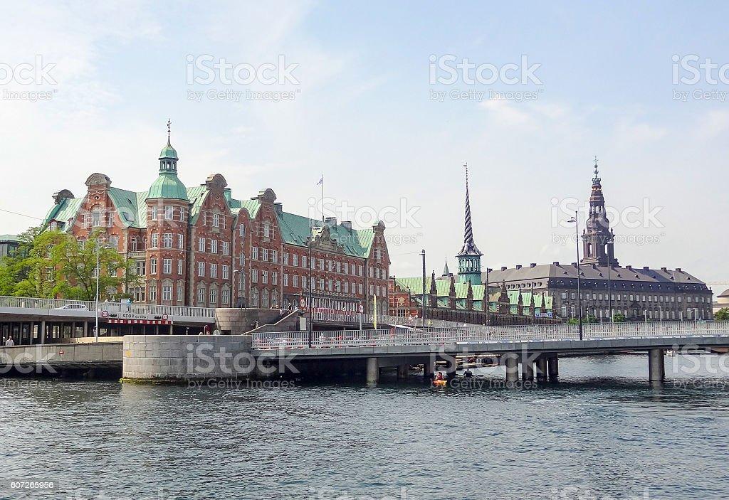 waterside scenery in Copenhagen stock photo