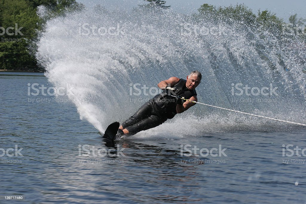 Waterski in Summer royalty-free stock photo
