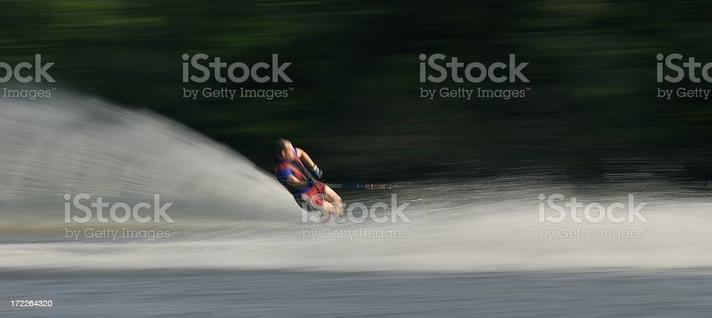 Waterskier Motion royalty-free stock photo