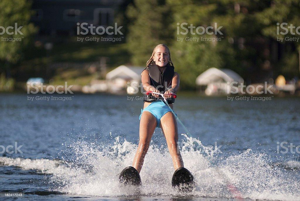 waterskiing Girl royalty-free stock photo