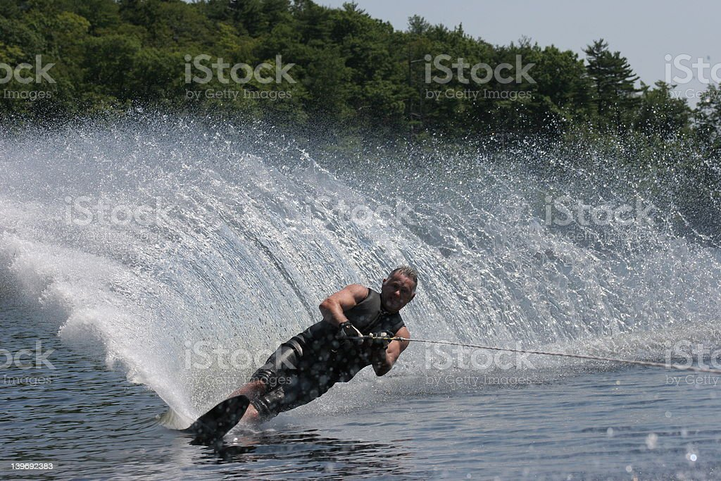 Waterskiing in Summer royalty-free stock photo