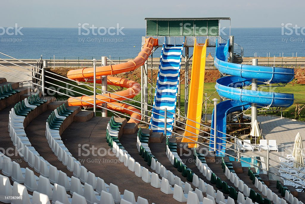 Waterslide and Amphitheater royalty-free stock photo