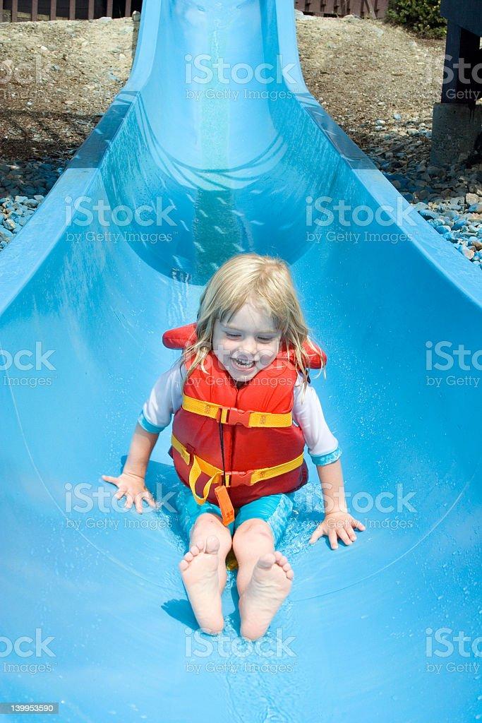 Waterslide fun #3 royalty-free stock photo