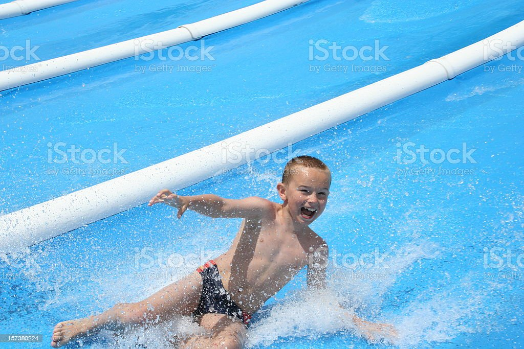 waterslide happiness stock photo
