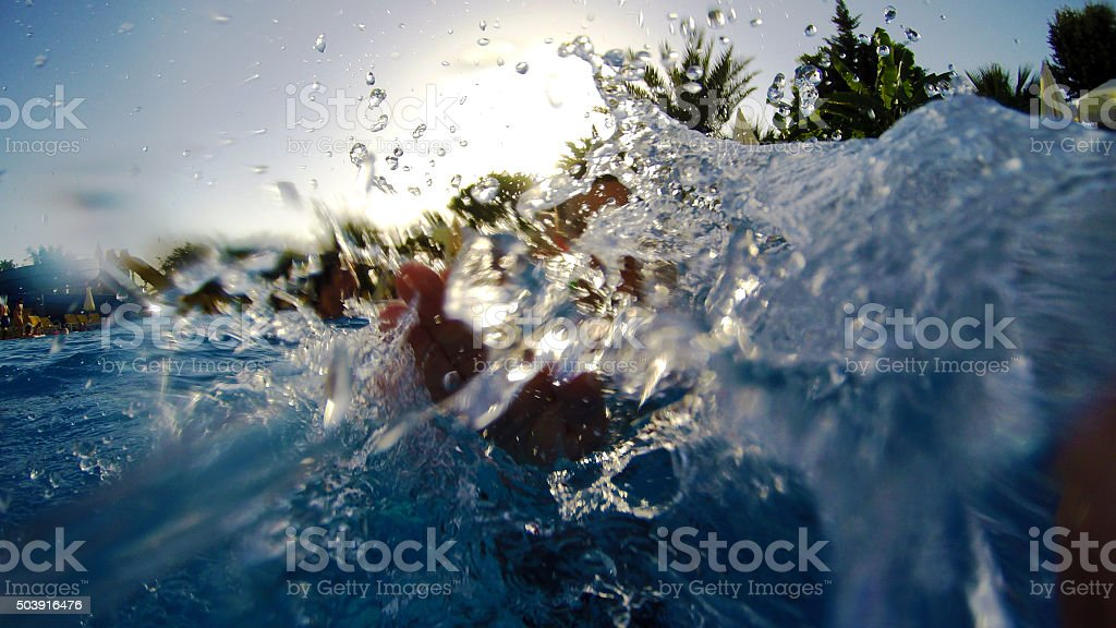 Watersplash stock photo