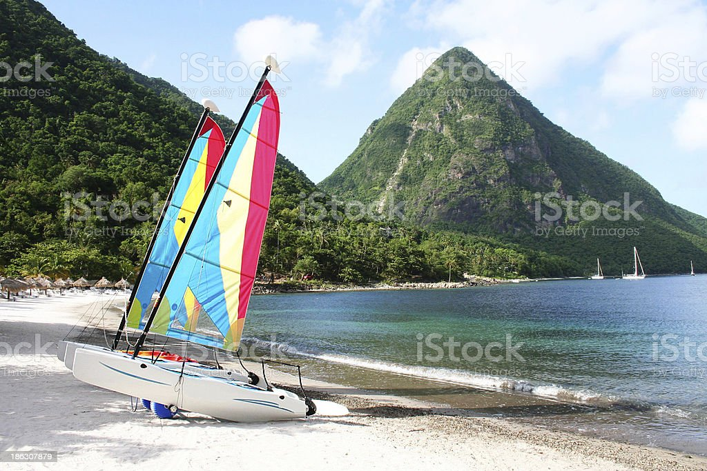 Watersports in St Lucia stock photo