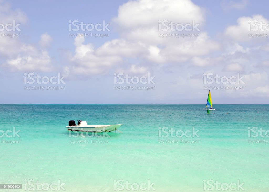 Watersports in the Turks and Caicos Islands stock photo