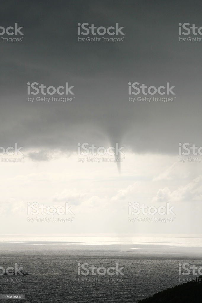 Waterspout stock photo