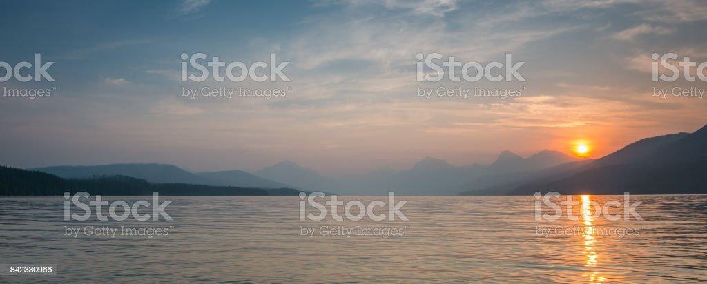 Waterton and Glacier International Peace Park stock photo